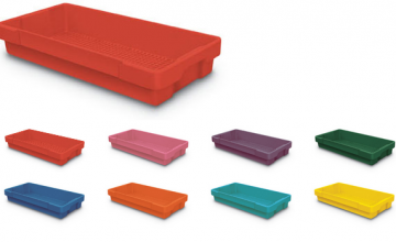 Colored Plastic Letter Trays